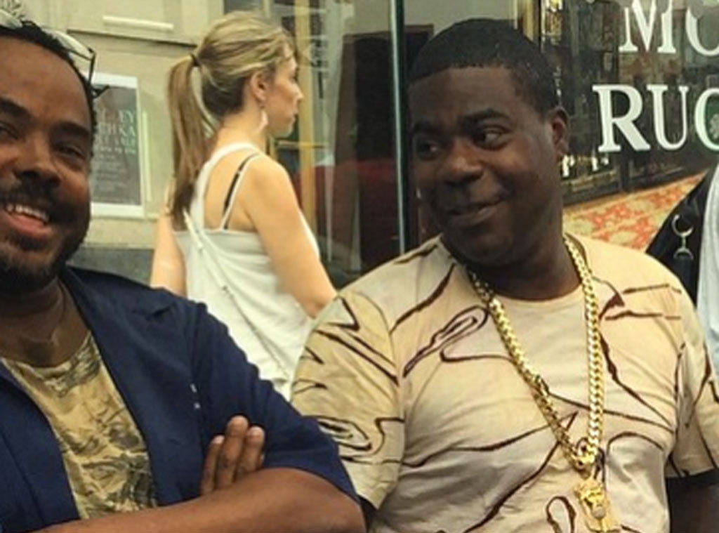 Tracy Morgan Drives Around in a $440,000 Lamborghini and Chats With Fans at a Bus Stop in New York City—See the Pics!