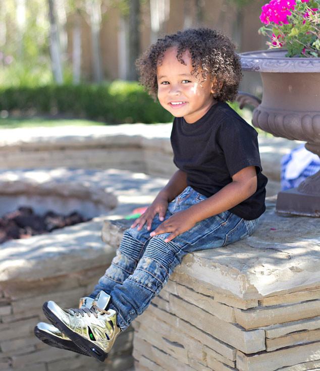 Tyga's Son, King Cairo Stevenson, L.A. Gear