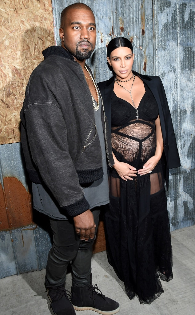 Fashion's First Couple -  Kim and Kanye attenda Givenchy fashion show in 2016, where Kim showed her baby belly and lots of leg.