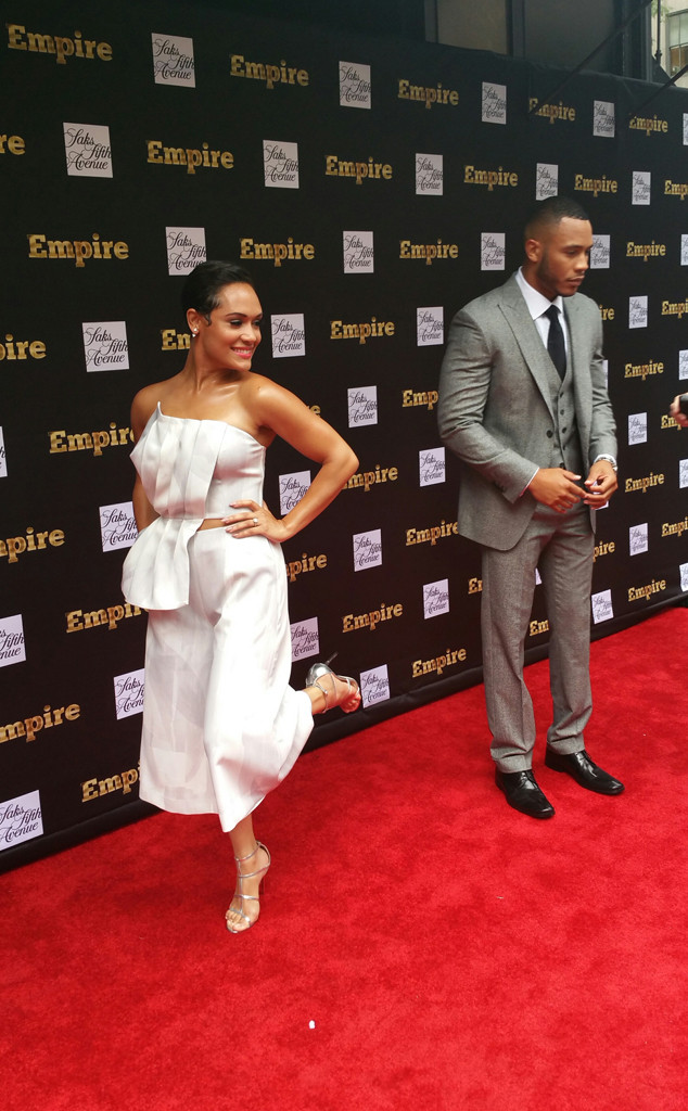 Grace Gealey Shows Engagement Ring At Nyfw Walks Empire Event Red