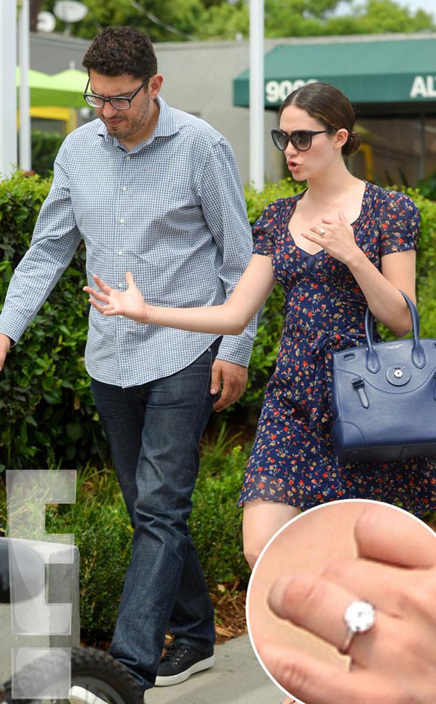 Emmy Rossum, Sam Esmail, Engagement Ring, Exclusive