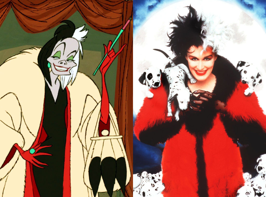 Cruella De Vil, 101 Dalmatians, Animated Disney vs. Live Action Disney