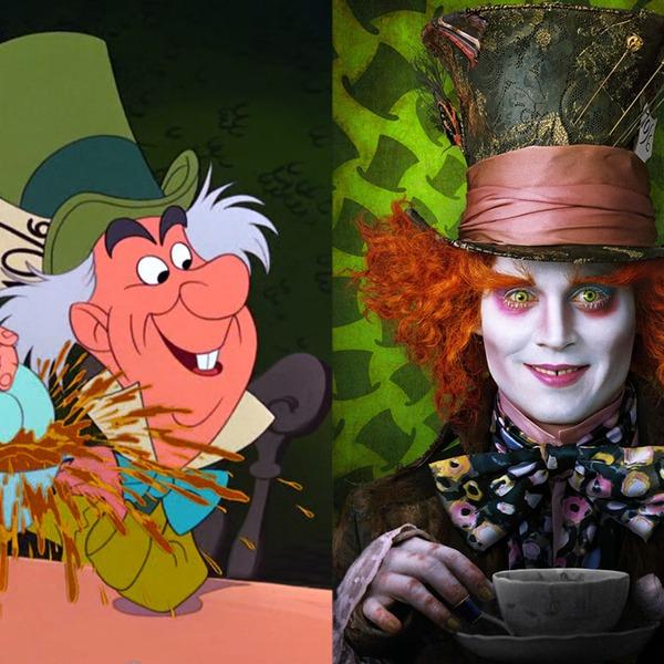 Disney Info Sites: Alice In Wonderland From Animated Disney Vs. Live-Action