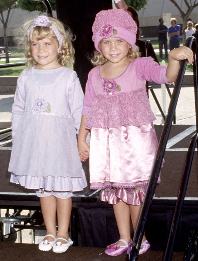 Emmy Cast Flashbacks, Mary-Kate Olsen, Ashley Olsen, 1991