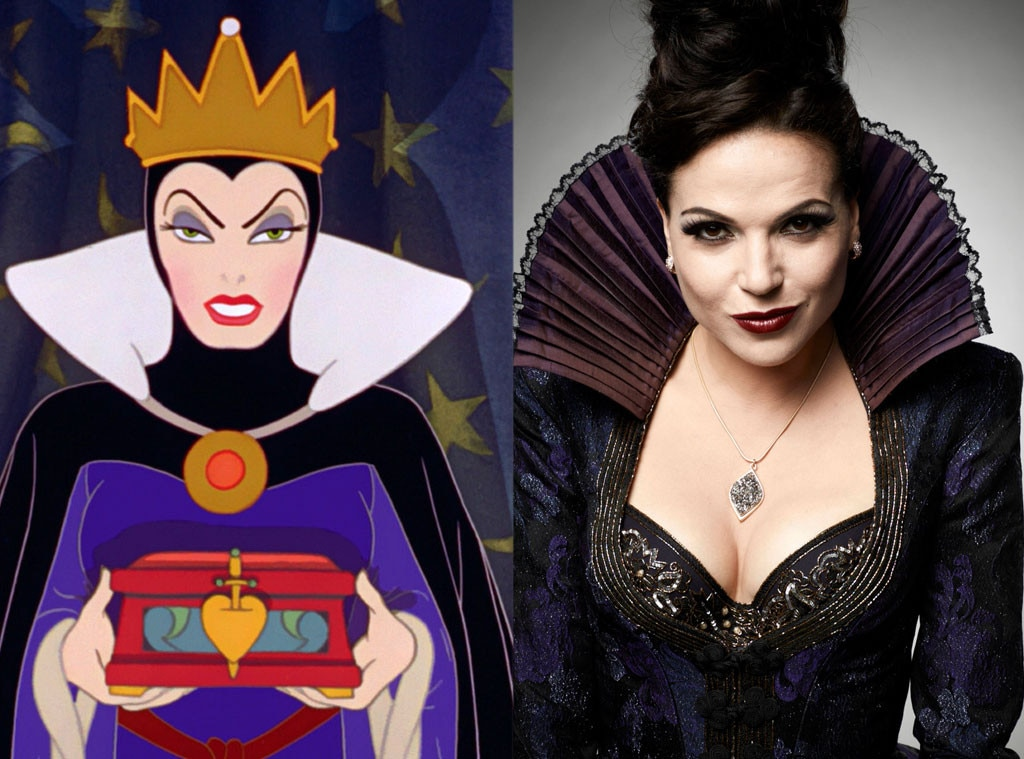 Snow White, Evil Queen, Animated Disney vs. Live Action Disney
