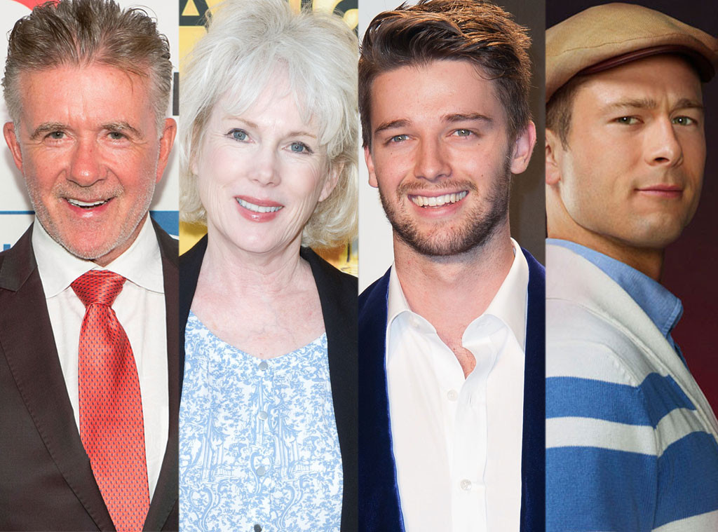 Alan Thicke, Julia Duffy, Patrick Schwarzenegger, Glen Powell