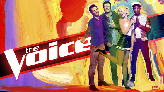 The Voice, Season 9, Adam Levine, Gwen Stefani, Pharrell Williams, Blake Shelton