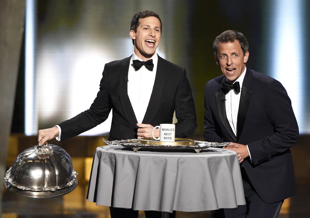 Andy Samberg, Seth Meyers, Emmy Awards 2015, Show