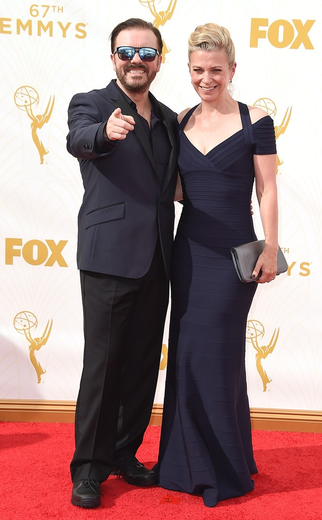 Ricky Gervais, Jane Fallon, Emmy Awards 2015