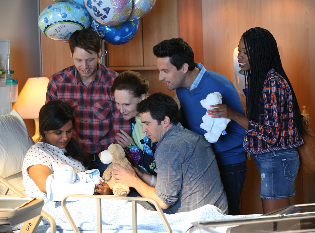 Mindy Project S Baby Is Here Check Out Adorable Fam Portrait E Online