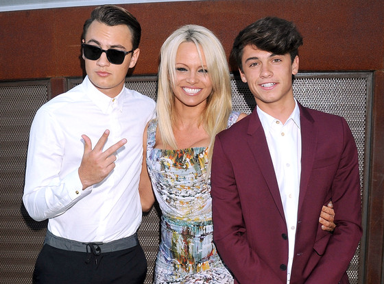Pamela Anderson Explains Why Shes Protective Over Her Heartthrob Sons  E News-9870