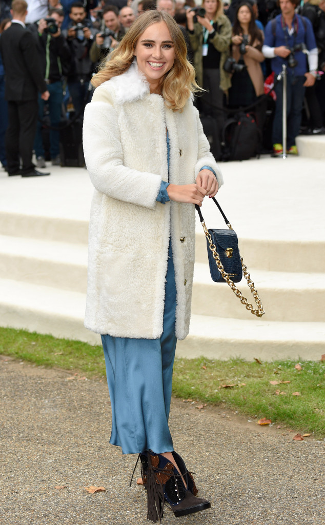 4a17add1841a Suki Waterhouse Hits the Burberry Show at London Fashion Week ...