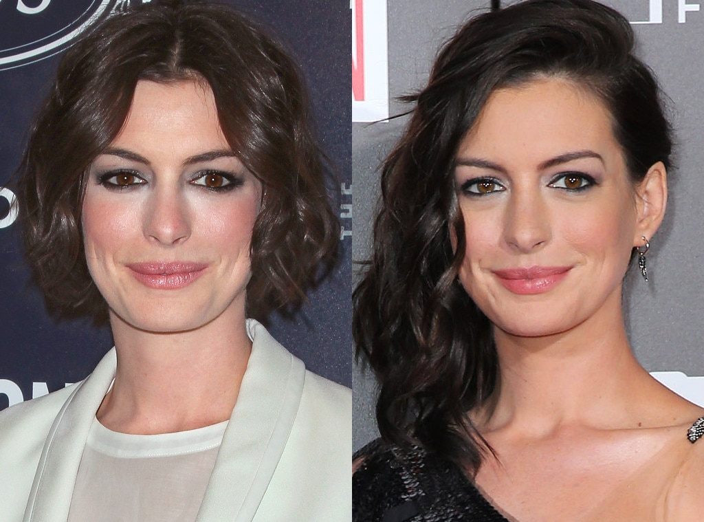 anne hathaway from celebrities changing hair color e news