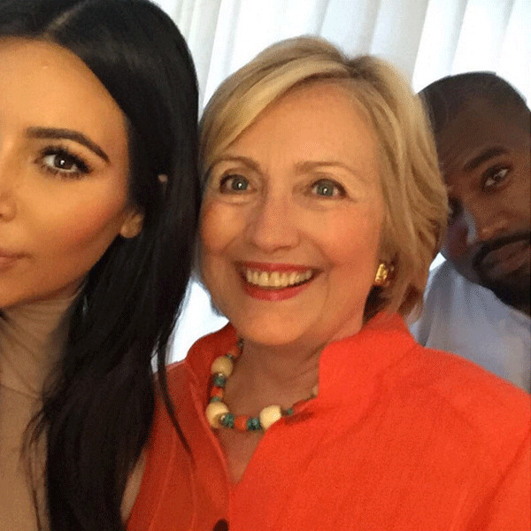 Kim Kardashian, Hillary Clinton, Kanye West