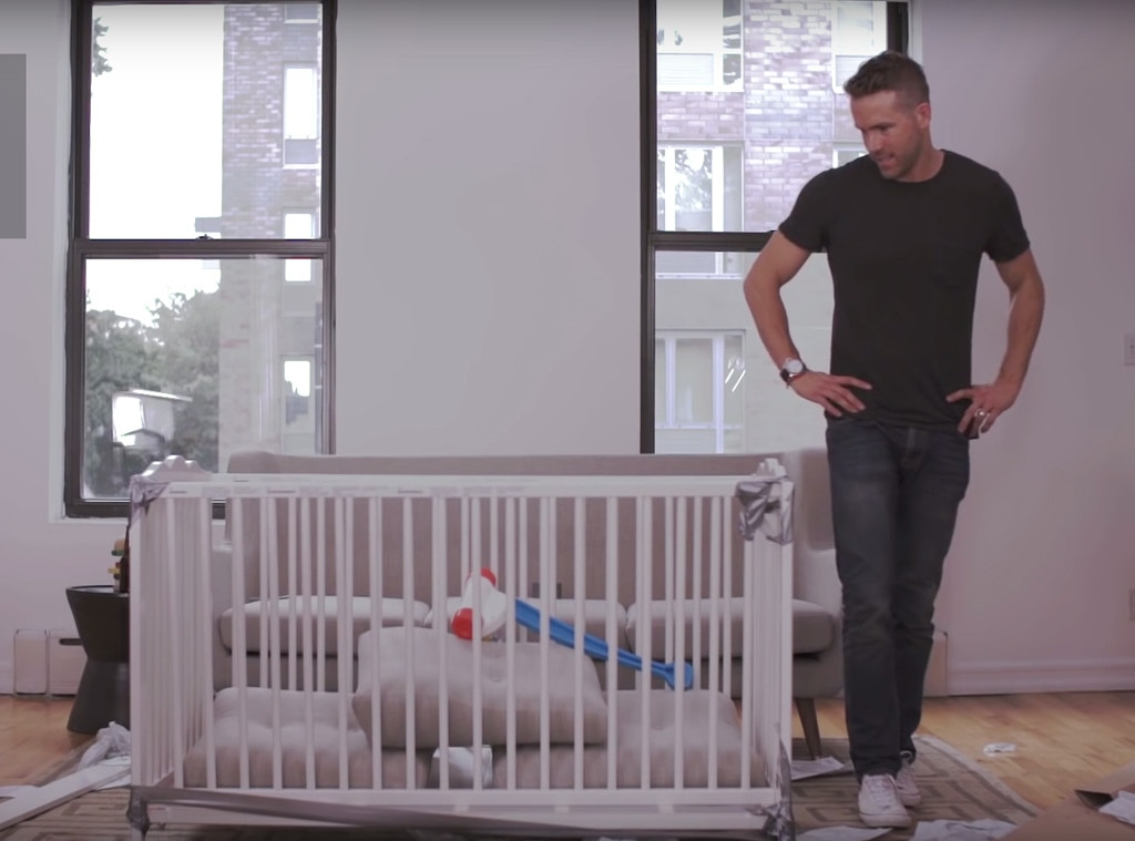 Watch Ryan Reynolds Hilariously Fail At Building An Ikea Baby Crib E Online