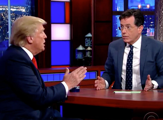 Donald Trump, Stephen Colbert