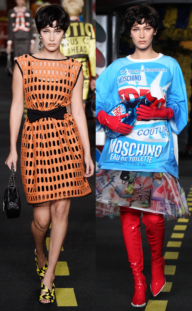 Bella Hadid, Moschino, Milan Fashion Week