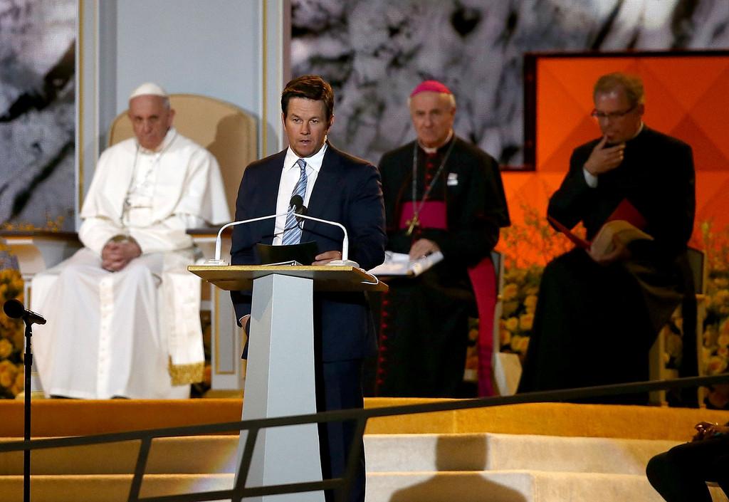 Pope Francis, Mark Wahlberg