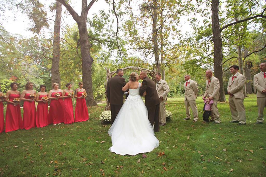 Dad, Step-Dad at Daughters Wedding