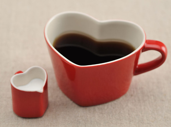 Heart-Shaped Cup of Coffee