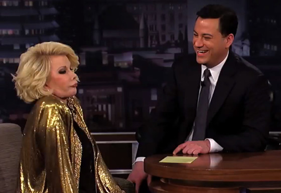 Jimmy Kimmel, Joan Rivers