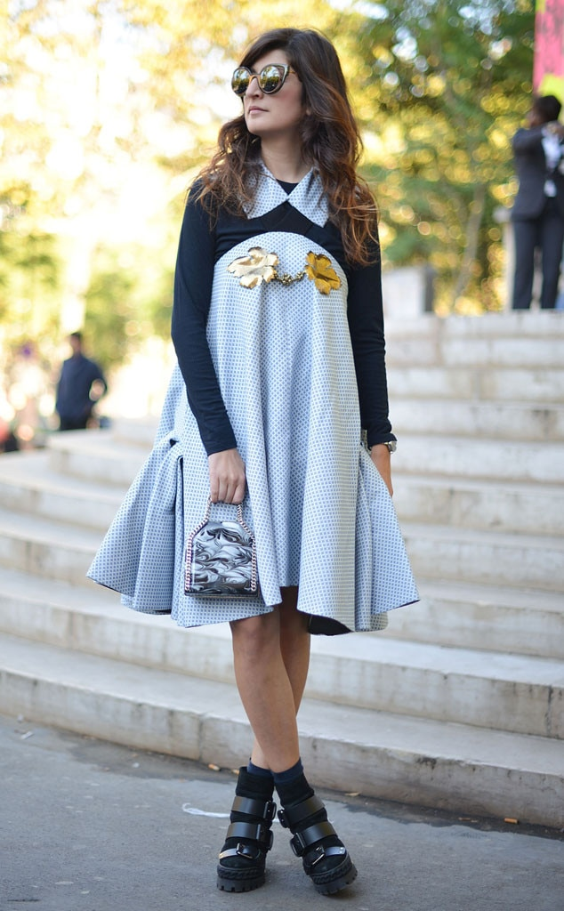 Valentina Siragusa From Street Style At Paris Fashion Week