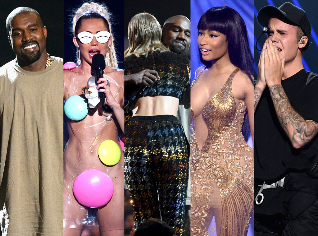 Kanye West, Miley Cyrus, Taylor Swift, Justin Bieber, Nicki Minaj, 2015 MTV Video Music Awards, VMA