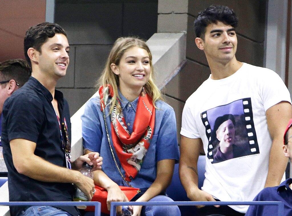 Joe Jonas, Gigi Hadid, U.S. Open