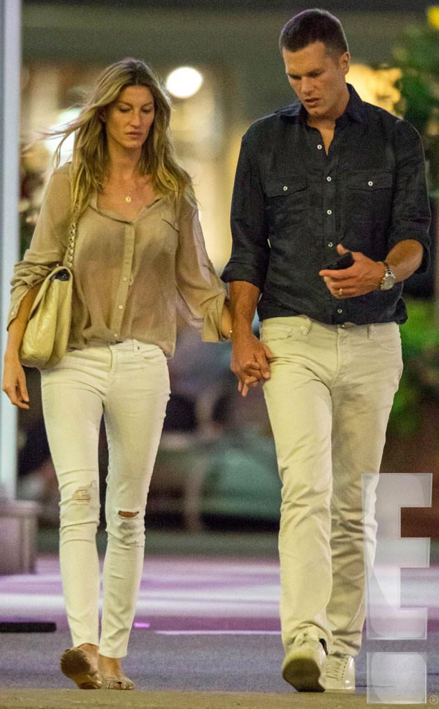Gisele Bündchen e Tom Brady saem juntos 1 dia antes do jogador falar do casamento