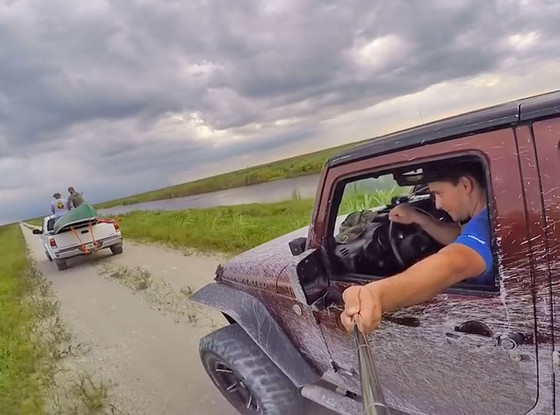 Jeep Wrangler GoPro fail, Selfie Stick