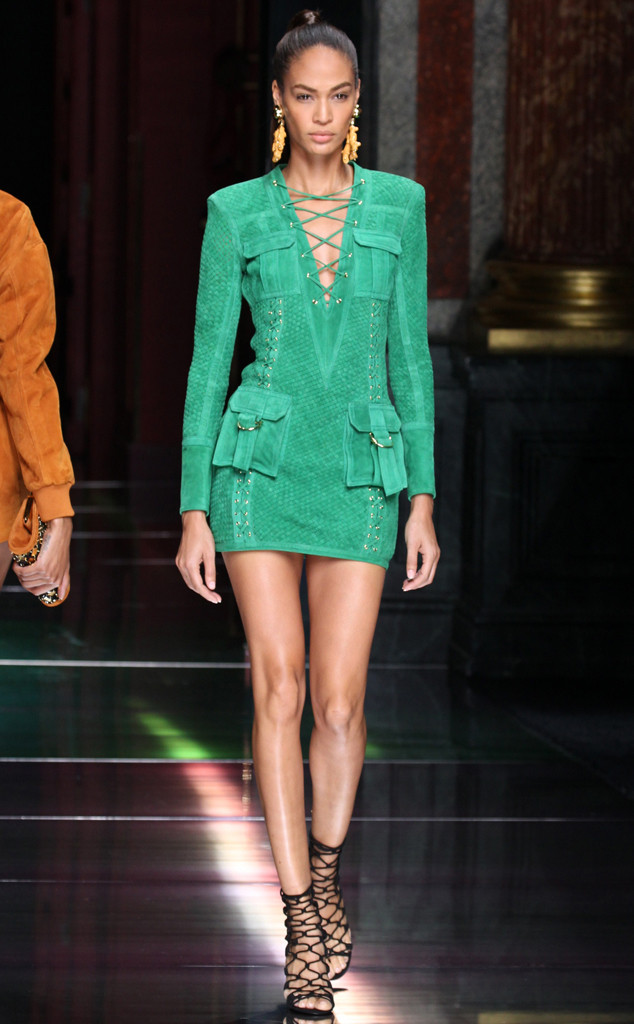 Joan Smalls, Balmain, Paris Fashion Week