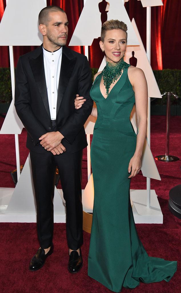 Scarlett Johansson & Husband Romain Dauriac Celebrate 1st ...