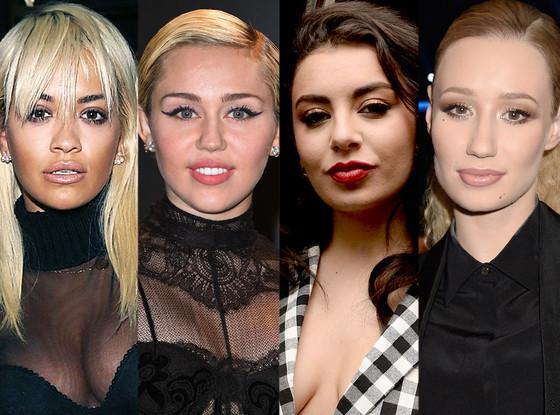 Rita Ora, Miley Cyrus, Charli XCX and Iggy Azalea