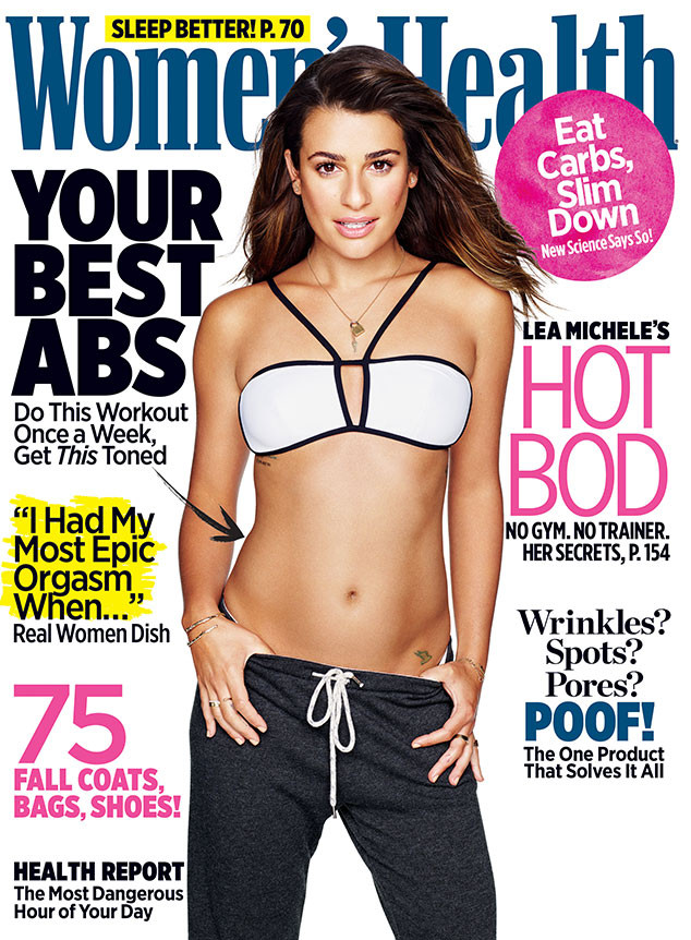 Lea Michele, Women's Health Cover