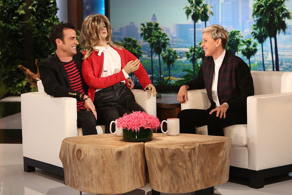 Justin Theroux, Ellen DeGeneres