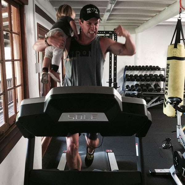 Chris Hemsworth Works Out With His Toddler Son On A