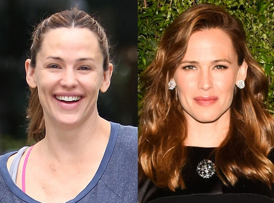 Jennifer Garner -  The proud mother-of-three doesn't shy away from the cameras in her make-up free look.