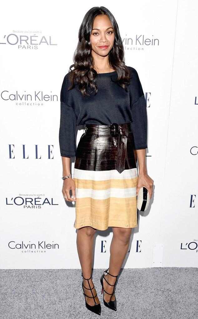 ELLE Women in Hollywood Awards, Zoe Saldana