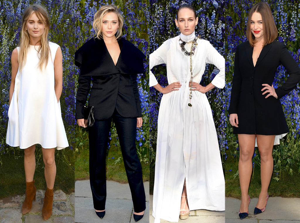 Elizabeth Olsen, Leelee Sobieski, Emilia Clarke, Cressida Bonas, Dior, PFW