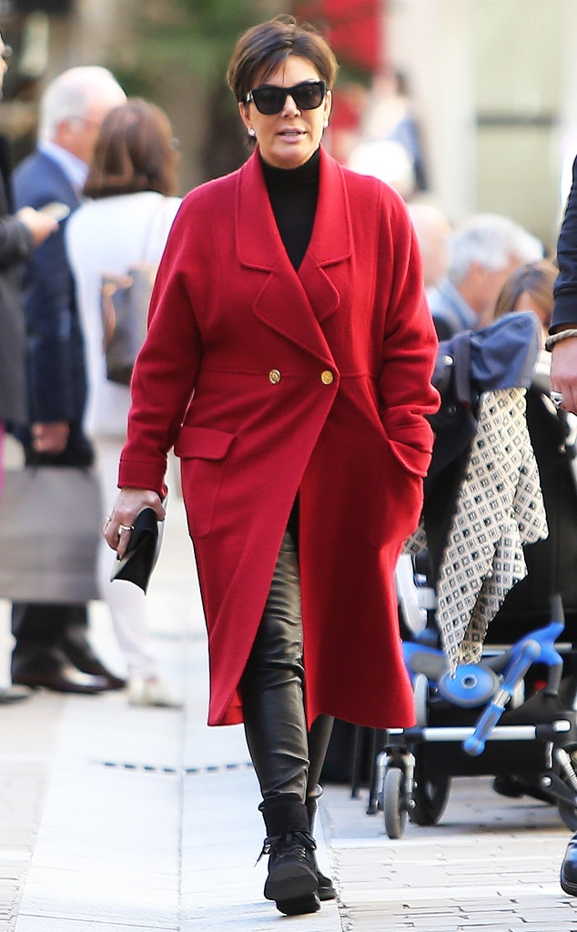Kris Jenner From Stars At Paris Fashion Week Spring 2016