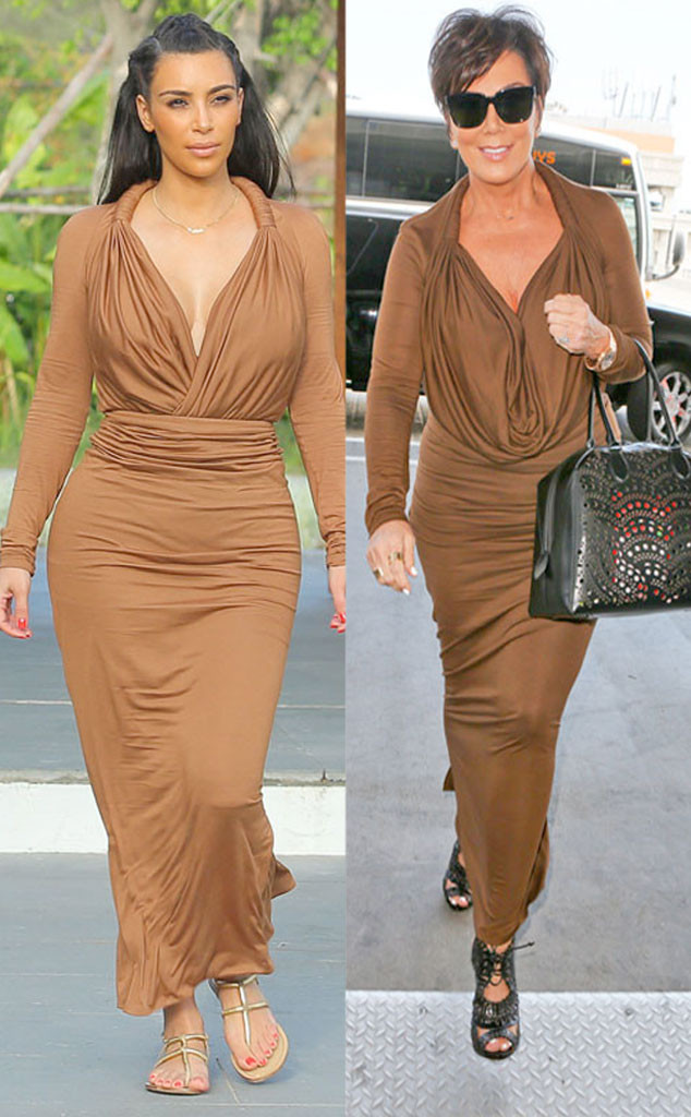 Kim Kardashian, Kris Jenner, Copycat Style