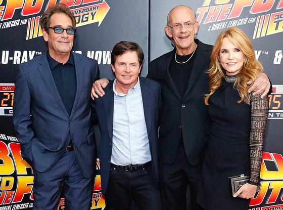 Huey Lewis, Michael J. Fox, Christopher Lloyd, Lea Thompson