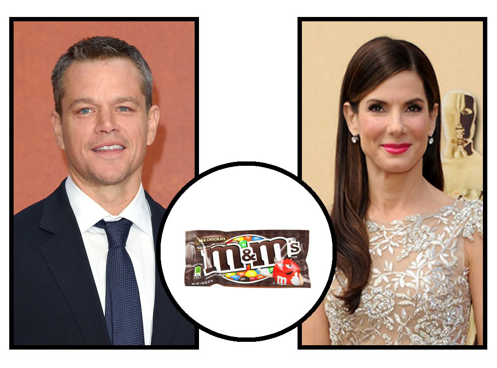 Celebs and Candy, Matt Damon, Sandra Bullock, M&M's