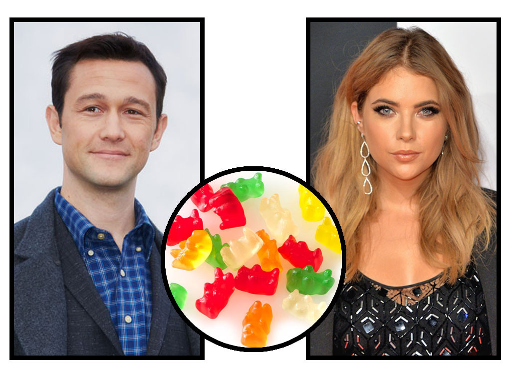 Celebs and Candy, Joseph Gordon-Levitt, Ashley Benson, Gummy Bears