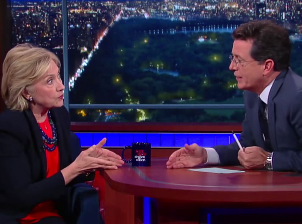 Hillary Clinton, Stephen Colbert