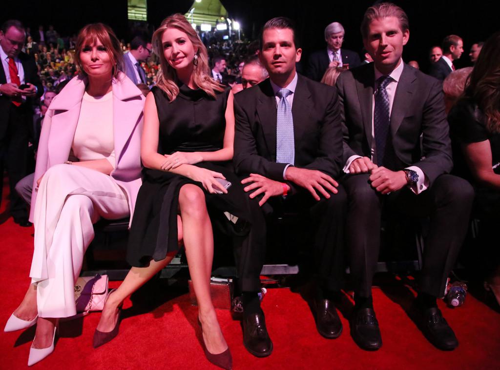 Melania Trump, Ivanka Trump, Donald Trump Jr., Eric Trump