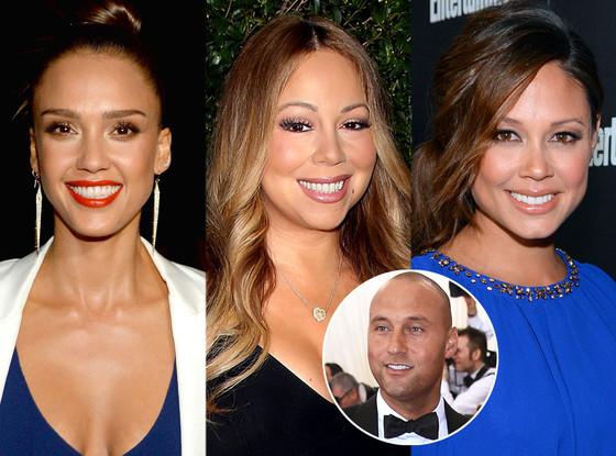 Jessica Alba Mariah Carey Vanessa Lachey Derek Jeter
