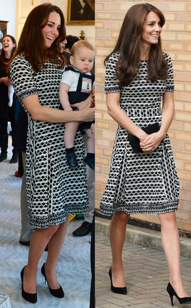 Orla Kiely Grey Pleated Dress From Kate Middleton S Recycled Looks E News