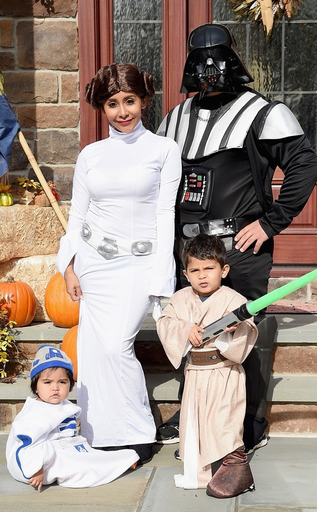 The Force is Strong -  The LaValle family dressed up in Star Wars  costumes for a festive Halloween look.