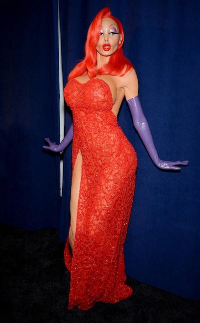 Heidi Klum, Jessica Rabbit, Halloween 2015